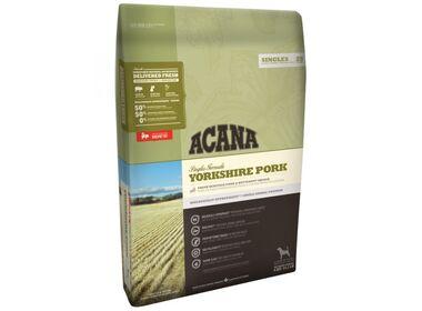 Acana Singles Yorkshire Pork сухой беззерновой корм для собак всех пород гипоаллергенный с чувств. пищеварением со свининой